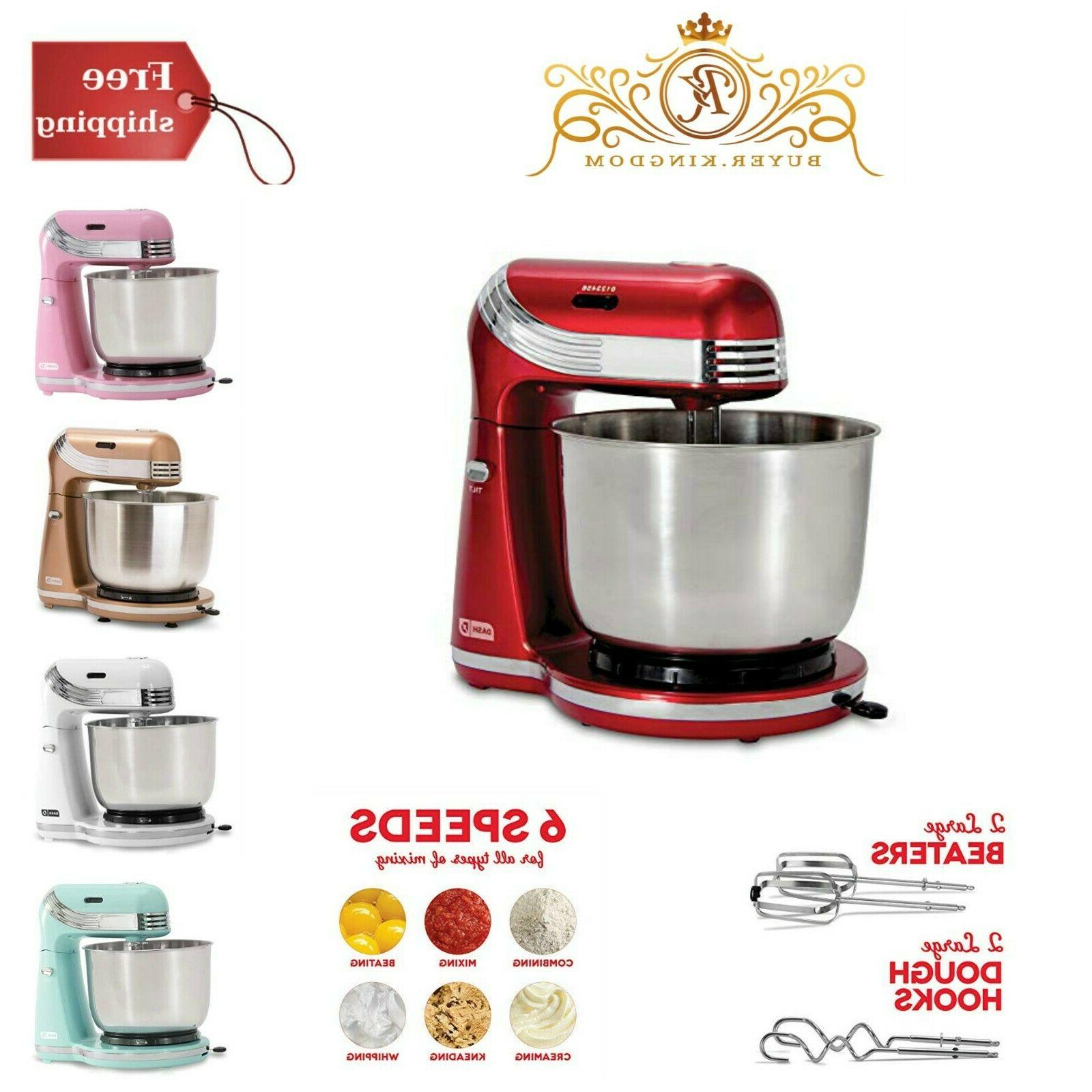 Stand Mixer Electric Food Blender 6 Speed With 3 Qt Stainles