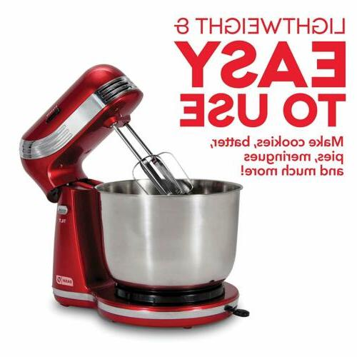 Classic Stand Mixer 6 Speed Kitchen Dough Bread Cake Cooking