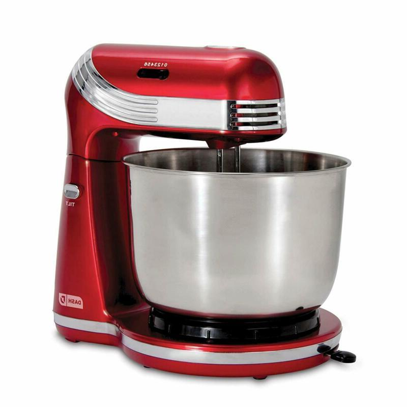 6-Speed Stand Mixer with 3 qt Stainless Steel Mixing Bowls