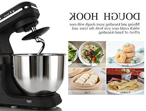 Steel Bowl, Tilt-Head Electric with Dough Hooks, Pouring