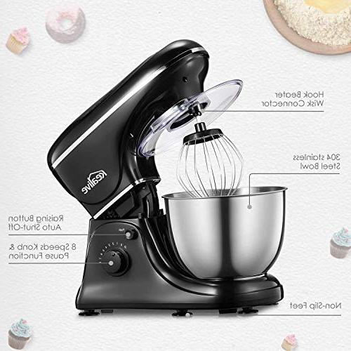 Kealive Stand Speed Watt Mixer with 5-Quart Steel Dough Whisk, Beater, Dough Mixer -