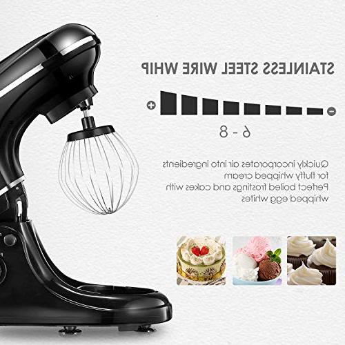 Kealive Stand 8 Speed Watt Kitchen Steel Whisk, Dough