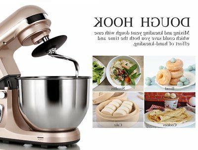 Stand Mixer Professional 500W 5-Qt Bowl Tilt-Head Food ..