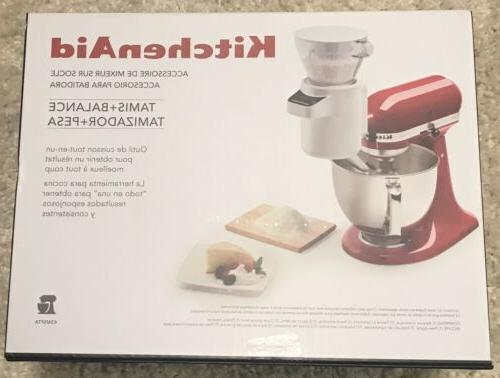 stand mixer sifter and scale attachment