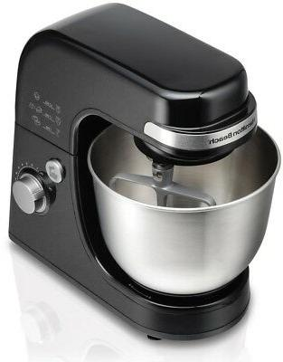 stand mixer stainless bowl black 6 speed