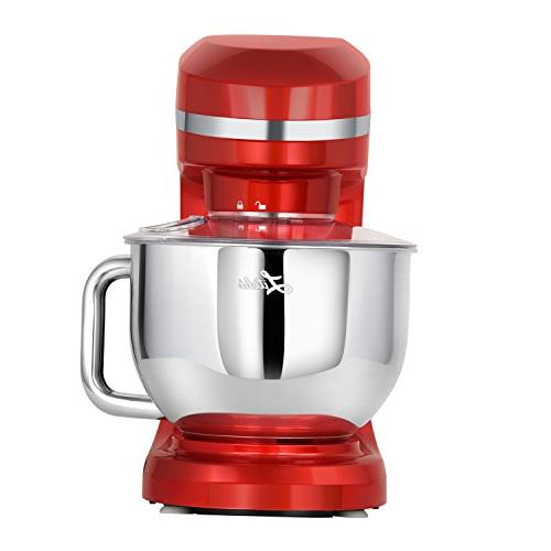 Litchi Stand Mixer, Qt. 6 Stainless Whisk, Dough