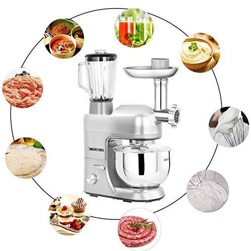 CHEFTRONIC Mixers Kitchen Mixer Household 120V/650W 5.5qt Stainless Steel Handle Bowl