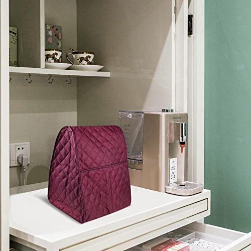 NKTM Stand Mixer Cover for Kitchenaid (Dark Red))