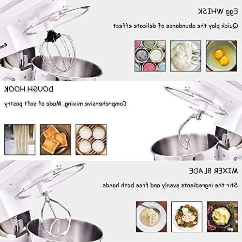 Costway 5.3Qt 6-Speed Food Mixer w/Stainless Bowl