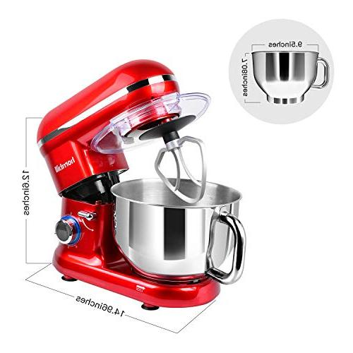 Electric 5-Quart Stainless Steel Professional Kitchen Mixer With Dough Whisk,