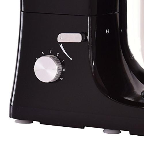 Costway Tilt-head Mixer 5.3Qt Food Mixer Blade, Dough Whisk, Splash Stainless Steel Bowl