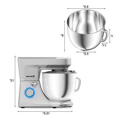 7.5 Stand Mixer w/Dough Hook, Beater Silver