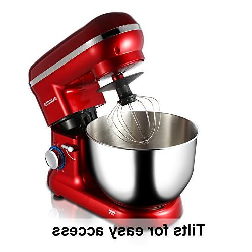 Tilt-Head Mixer, 5.9 Bowl, Kitchen Mixer Dough Whisk Speed