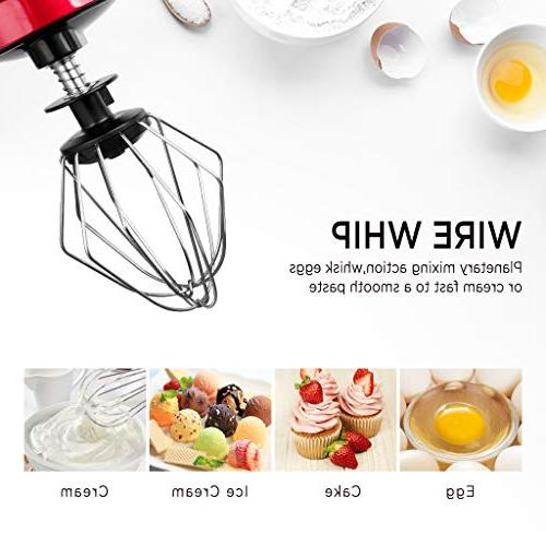 【Upgraded】Betitay wth 4.0-Quart 6 Speeds Pulse Function, Kitchen Dough Mixer Pouring Empire