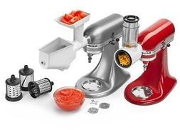 KitchenAid Mixer Attachment Pack: Slicer, Shredder, Grinder,