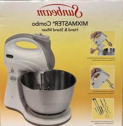 Sunbeam Mixmaster 250-W, Combo Hand/Stand Mixer, Stainless B