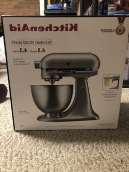 NEW! KitchenAid Classic Plus 4.5Qt Tilt-Head Silver Stand Mi