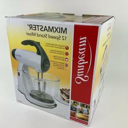 New Sunbeam FPSBSMGLW 350W White Mixmaster 12 Speed Stand Mi