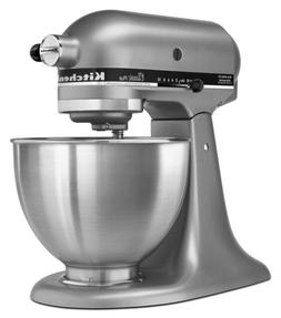 New Kitchen Aid Classic Plus 4.5QT Tilt-Head Stand Mixer Sil