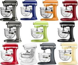 New KitchenAid Stand Mixer KF26M2X 6-Qt Pro 600 With Glass B