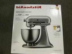 NEW - KitchenAid Tilt-Head Stand Mixer, 4.5 Quarts, Silver S