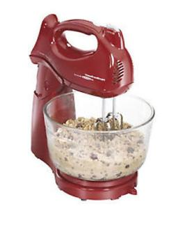 Hamilton Beach - Power Deluxe 6-Speed Stand Mixer - Red
