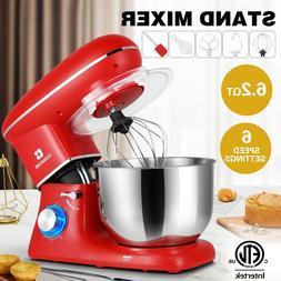 Pro Electric Food Stand Mixer 6.2 QT Tilt-Head 6 Speeds Stai