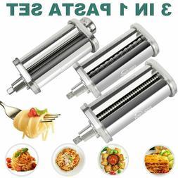 PRO Pasta Roller Cutter Maker 3-piece Stand Mixer Attachment