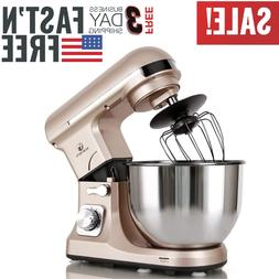 Professional Electric Stand Mixer 500W 5 Quart Bowl 6 Speed