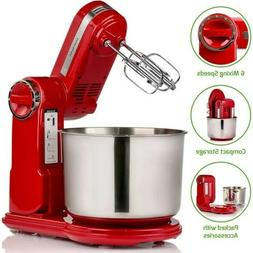 ovente professional stand mixer 6 mixing speeds 3.7 Qt. stai
