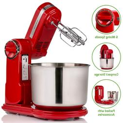 Ovente Professional Stand Mixer with 3.7 Quart Stainless Ste
