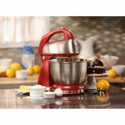 Hamilton Beach Red 64654 Classic Hand and Stand Mixer