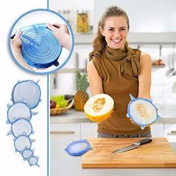 set universal silicone lids stretch