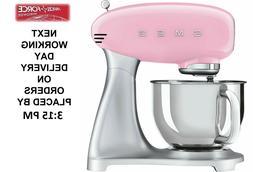 Smeg SMF02PKUK Pink Retro 50s Stand Mixer 800 Watt Brand New
