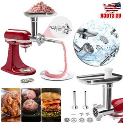 Stainless Steel Meat Grinder Food Chopper Attachment For Kit