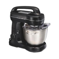 Hamilton Beach Stand Mixer 4 qt Black Whisk Beater Dough Hoo