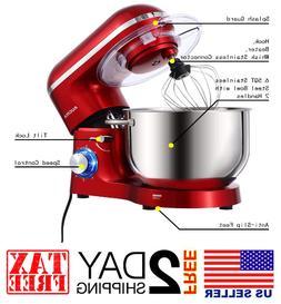 Stand Mixer,6.5-QT 660W 6-Speed Tilt-Head Food Mixer, Kitche