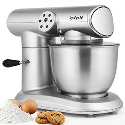 Stand Mixer, 600W Tilt-Head Kitchen Electric Food Mixer with