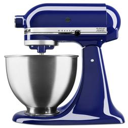 Stand Mixer Countertop Tilt Head Cobalt Blue Steel Powerful