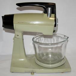 Vintage Sunbeam Mixmaster Avacado Green Stand Mixer 12 Speed